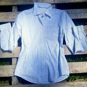 JCrew Light Blue and White Button Up Dress Shirt